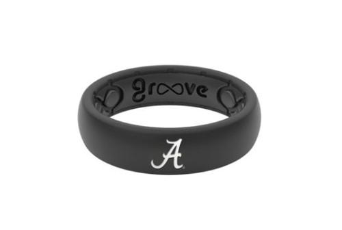 Alabama Silicone Ring - Black - Thin