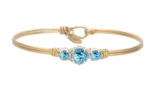Birthstone Triple Setting Bracelet