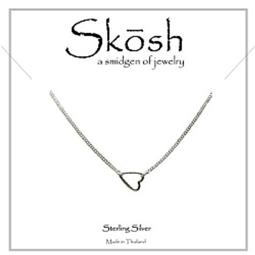 "Tiny Sweet Heart pendant, silver 16"""
