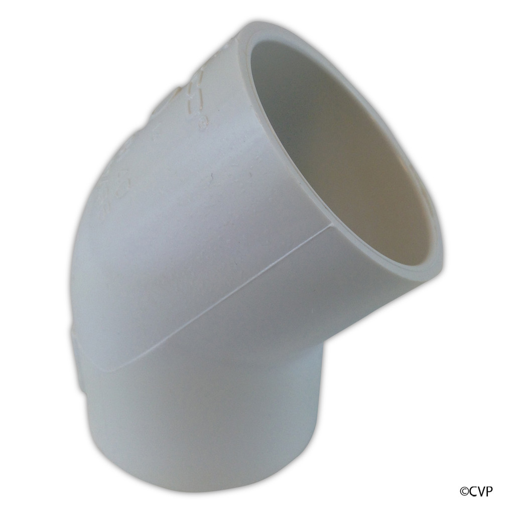 "PVC LASCO | 2"" SLIP 45 DEGREE ELBOW  