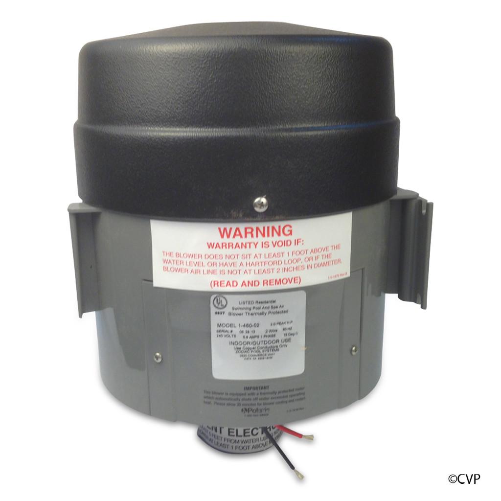 Polaris 1-480-02 QT Spa Blower 2 HP 240V Quiet Bottom Exhaust