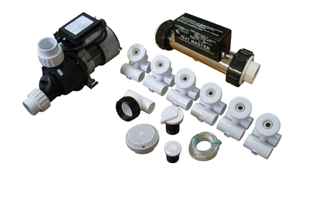 Allied Innovations | PUMP / PLUMBING JETTED TUB ASSEMBLY KIT -DELUXE WITH HEATER | 3-80-5070