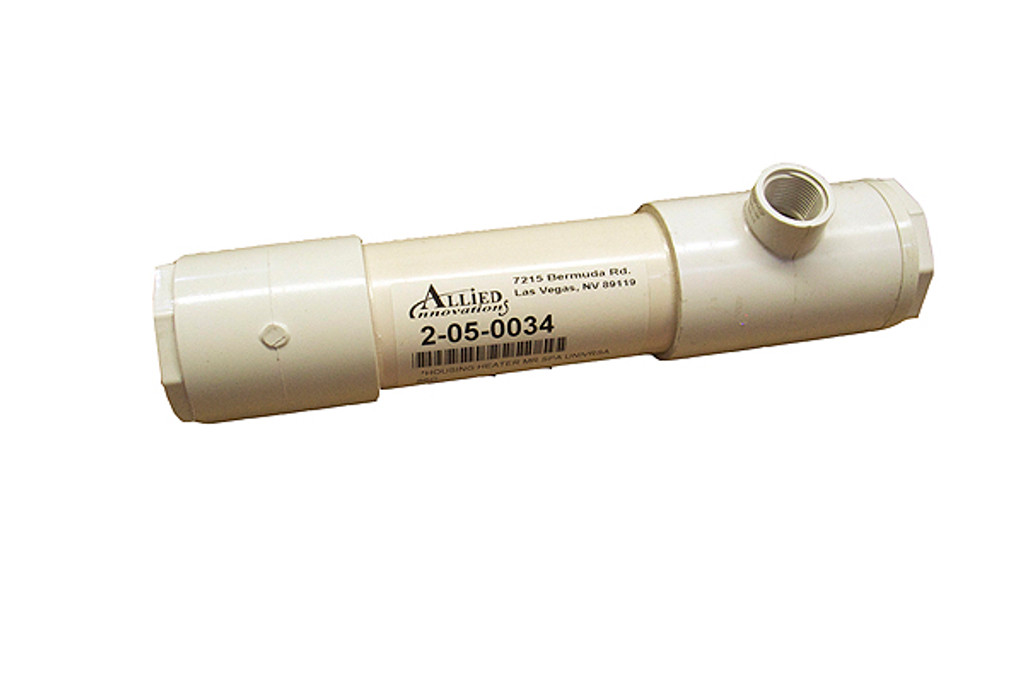 """Allied Innovations   HEATER HOUSING   PVC 1-1/4"""" X 3/4"""" X 3/4"""" FIPT FOR MR SPA   2-05-0034"""