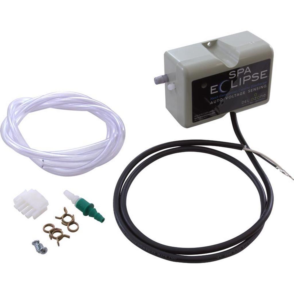 Del Ozone | SpaEclipse 120/240 Corona Disch Ozonator, Amp cord, Dual Volt | ECS-1RPAM