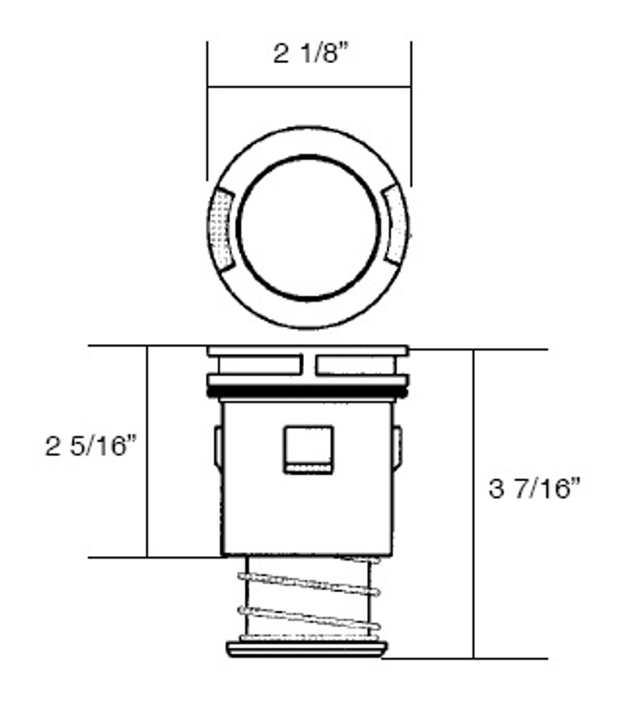 A & A MANUFACTURING CLEANING HEADS   STYLE III, LOW FLOW INTERNAL, TAN   554636