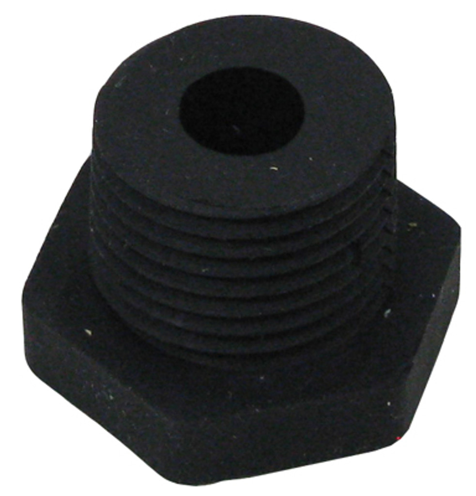 "1/2"" NPT RUBBER FTG, 3/8"" HOLE 