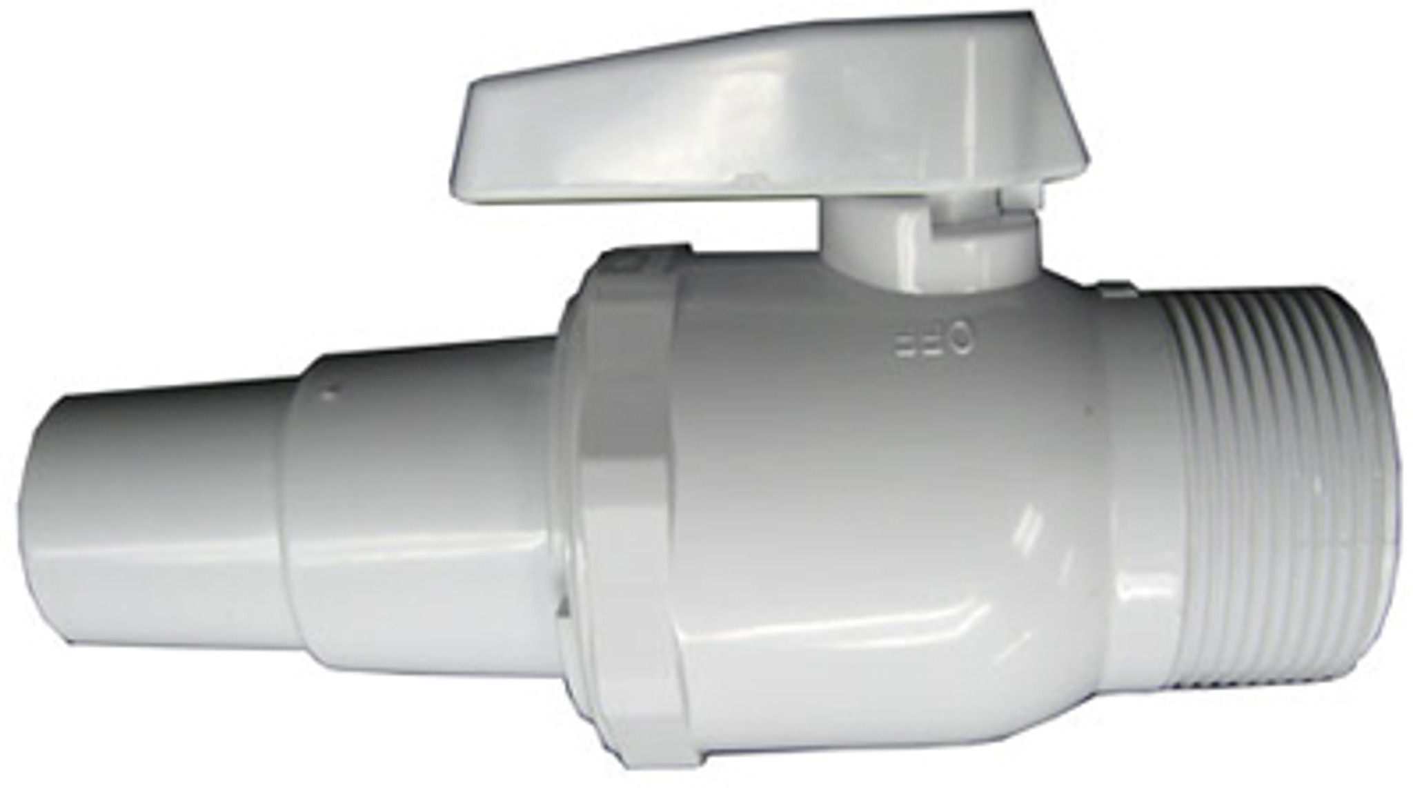 """Hayward SP0729 1.5/"""" Male Pipe Thread x 1.2/"""" Hose Adapter 2-Way ABS Ball Valve"""