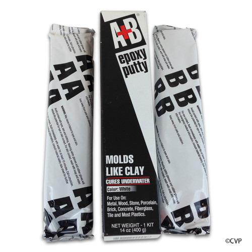 EPOXY PUDDY |  POOL PUTTY BLACK 14 OZ 20/CS (2 PART) | PVC POOL EPOXY | 530317