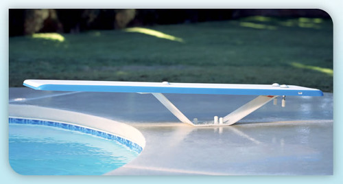 INTER-FAB | 6' DURO-SPRING BOARD WHITE | DIVING BOARD | DS6WW (DS6WW )