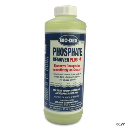 BIO-DEX CHEMICALS | 1 QUART PHOSPHATE REMOVER PLUS+ | PHOS+QT
