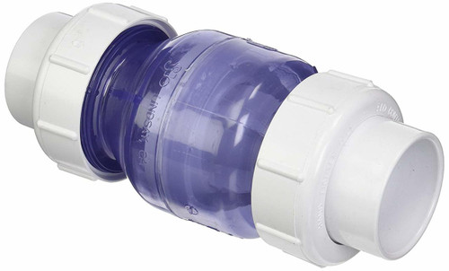 "FLO CONTROL | 2"" SPRING CHECK VALVE UNION CLEAR 