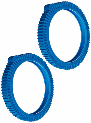 POOLVERGNUEGEN | THE POOL CLEANER FRONT TIRE WITH SUPER HUMP | 2 PACK BLUE SOLID | 896584000-334