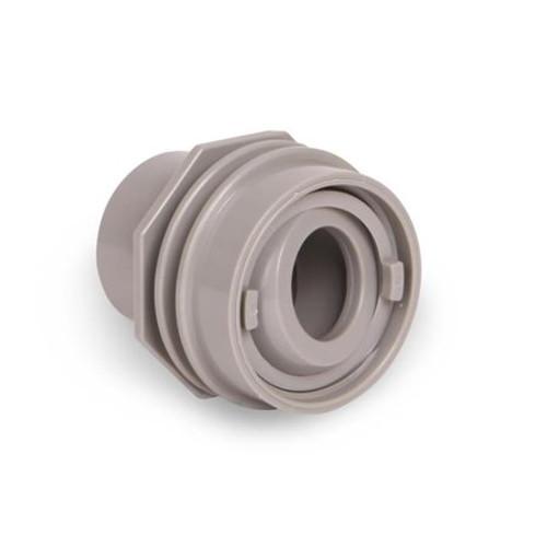 "SUPER PRO | RETURN FITING FLUSH MOUNT WHITE, WALL RETURN EYE BALL FITTING | (INS 1-1/2"" PVC) | 25555-000-000"