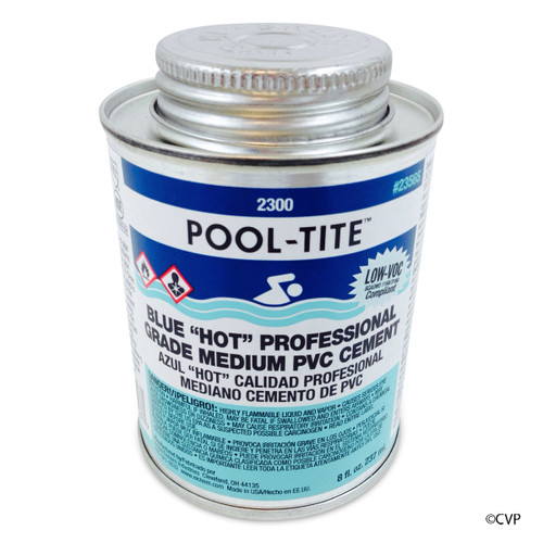 UNITED CHEMICAL | BLUE GLUE .5 PINT | POOL-TITE | POOL PROFESSIONAL NO PRIMER NEEDED, UNDERWATER PVC GLUE | 2356S