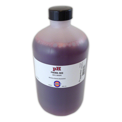 Pentair R161126 pH Solution Phenol Red - 16 Oz