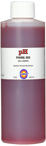 PENTAIR | RAINBOW TEST KIT SOLUTION PH RED 8 OZ | R161116 pH Solution Phenol Red with Chlorine Neutralizer, 8-Ounce | R161116