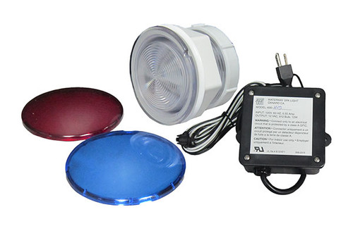 Waterway | LIGHT KIT | SPA LIGHT 110V-12V WITH AIR SWITCH AND NEMA CORD | 630-1115
