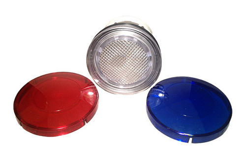"O'Ryan Industries | LIGHT PART | 2-1/2"" WALL FITTING WITH LENSES (RED / BLUE) 