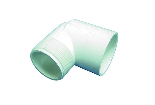 "Dura Plastics | PVC FITTING | 90 ELBOW 1-1/2"" MPT X 1-1/2"" SLIP 
