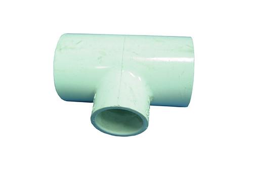 "Dura Plastics | PVC FITTING | TEE 1-1/2"" SLIP X 1-1/2"" SLIP X 1"" SLIP | 401-211"