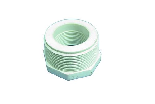 "Dura Plastics   PVC REDUCING BUSHING   2"" MIPT X 1-1/4"" FIPT   439-250"
