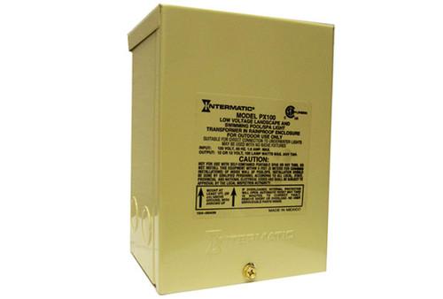 Intermatic | LIGHT TRANSFORMER | 100W 120V-12V IN RAINPROOF ENCLOSURE | PX-100