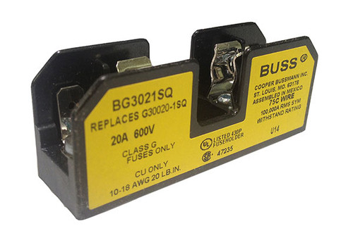 Bussmann | FUSE HOLDER | 300V 20AMP G | BG-3021SQ