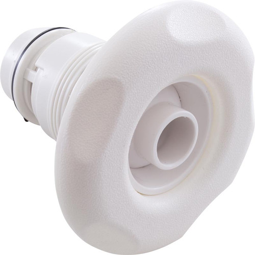 Waterway | JET INTERNAL | POLY ADJUSTABLE EYEBALL LARGE -5 SCALLOP ESCUTCHEON WHITE | 210-6540