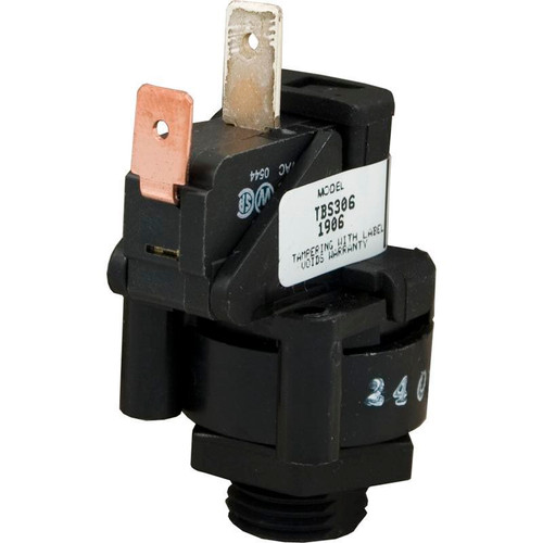 Tecmark (TDI) |  AIR SWITCH | 25AMP - SPNO - LATCHING - 90 DEGREE | TBS306