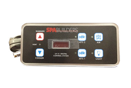 Spa Builders 3-00-0140 LX-15 6 Button Topside Control