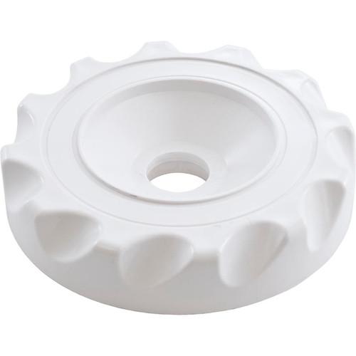 "Waterway Plastics | Cap, WW Top Access Diverter Valve, 2"", Scalloped, White | 602-3530"