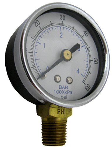 JACUZZI | PRESSURE GAUGE, BOTTOM MOUNT | 4726-0