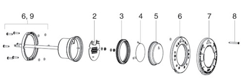 JANDY | PCB, LED SMALL LIGHT ENGINE, 120V & 12V | R0473900