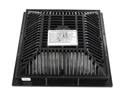 "WATERWAY | 9"" x 9"" SQUARE FRAME AND GRATE, BLACK 