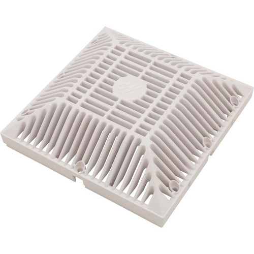 "WATERWAY | 9"" x 9"" SQUARE GRATE, WHITE 
