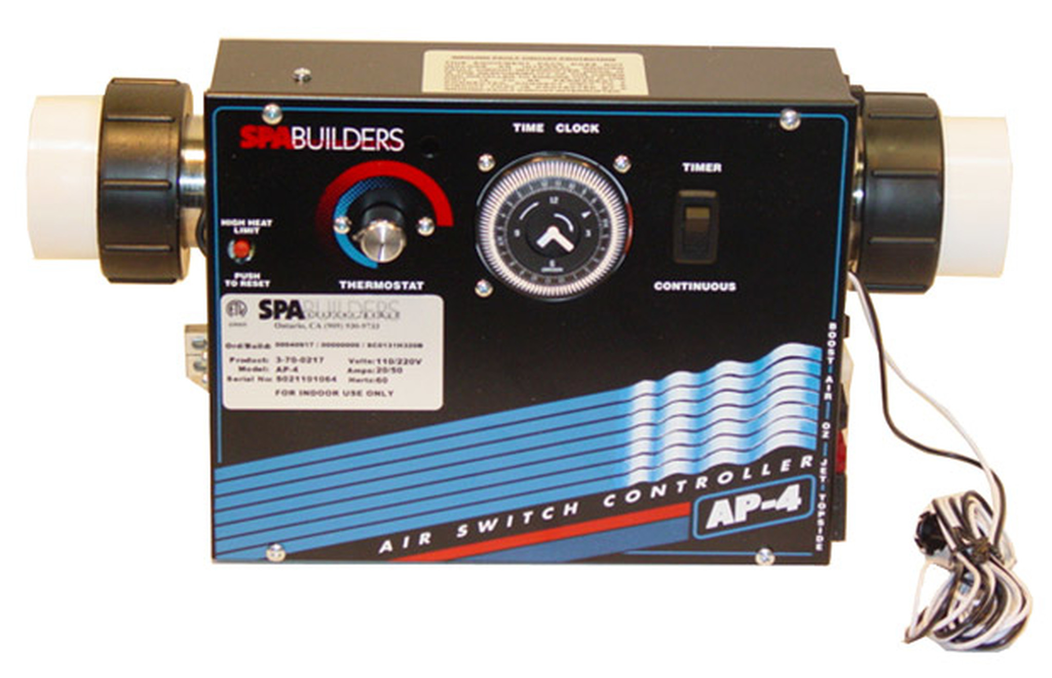 Allied Innovations Spa Controls