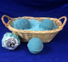 Pack of three tropical jackalovski bath bombs, does not come with basket.