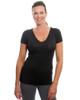 Black V-Neck Short Sleeve