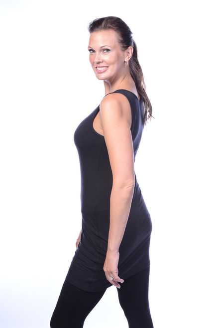 Black Tank Dress Side View