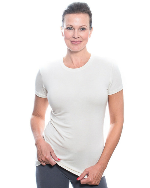 Luxury Crew Neck Short Sleeve Ivory