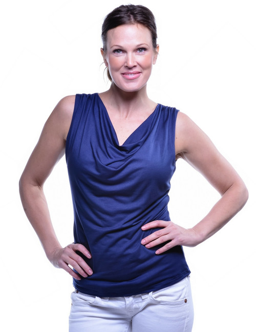 Navy Droop Neck SKU2001