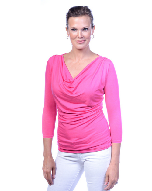 Luxury Droop Neck - 3/4 Sleeve