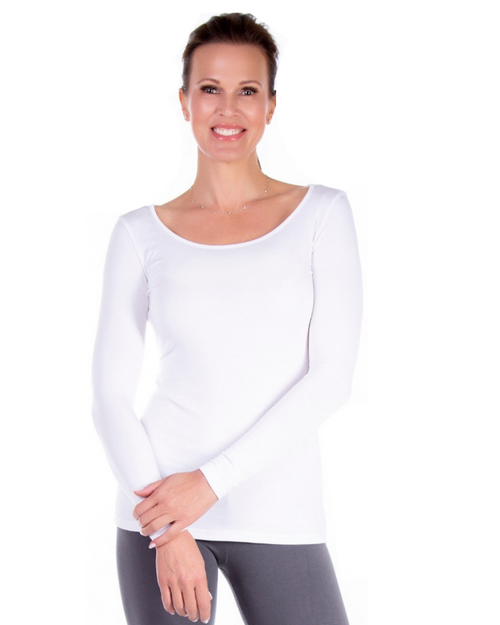 Basic Scoop Neck Long Sleeve Tee /Women's Basic Crew Neck Long Sleeve Tees