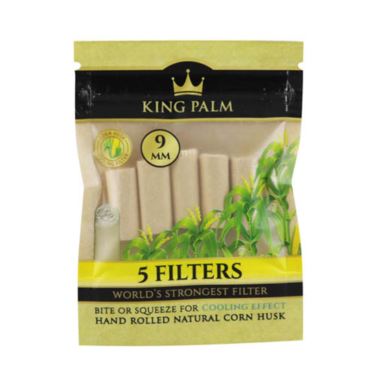King Palm Corn Husk Filters 5ct (Display of 24)
