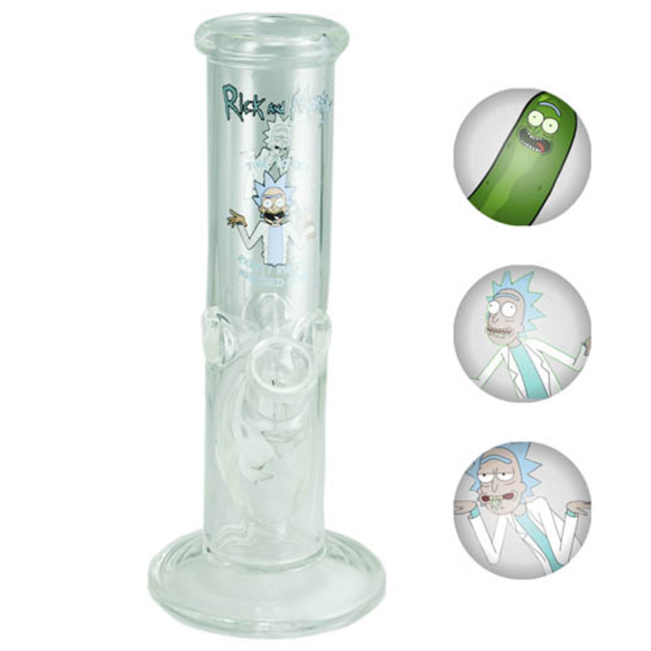 "Rick & Morty 9"" Straight Tube Assorted Decal w/ Ice Pinch"