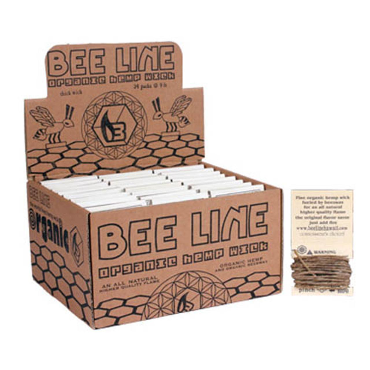 Bee Line Organic Hemp Wick Display
