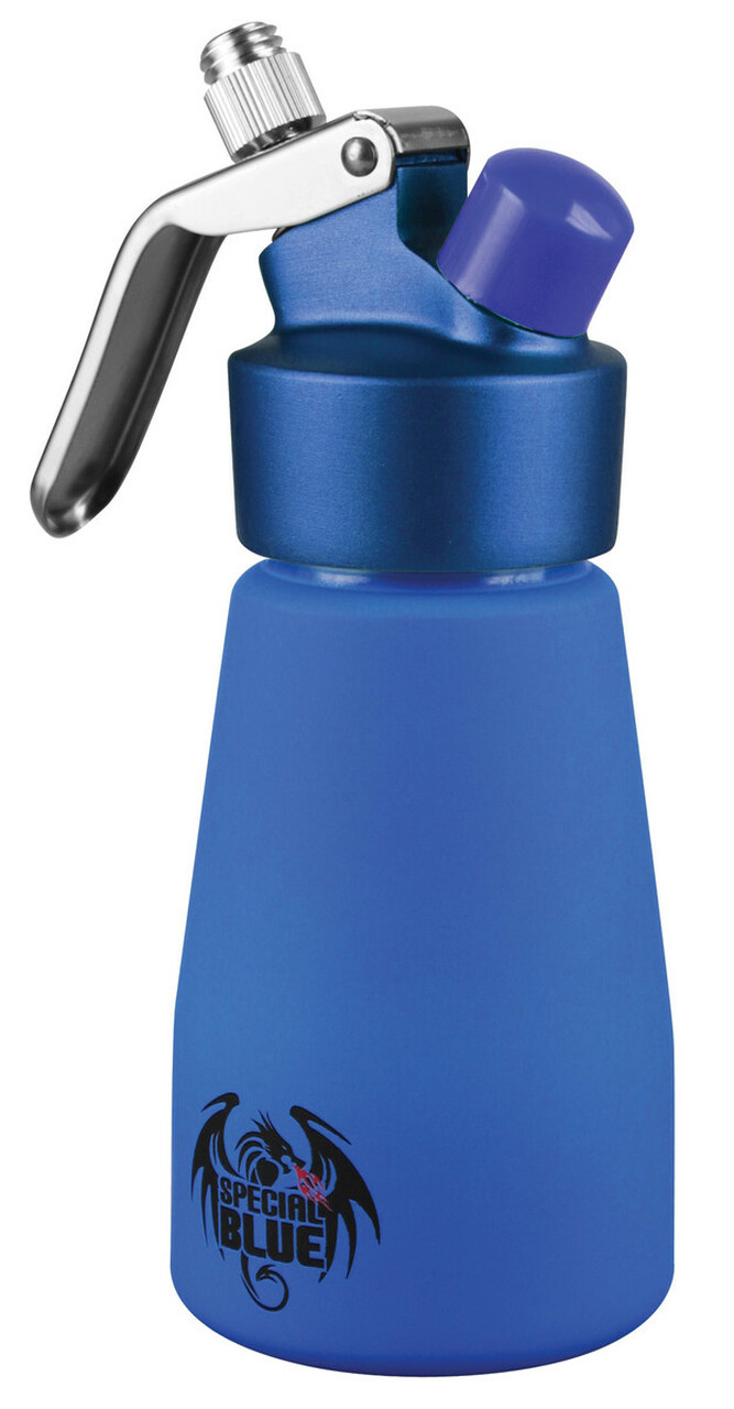 Special Blue Suede Series Plus .25 Liter (1/2 Pint) Aluminum Dispenser w/ Metal Head