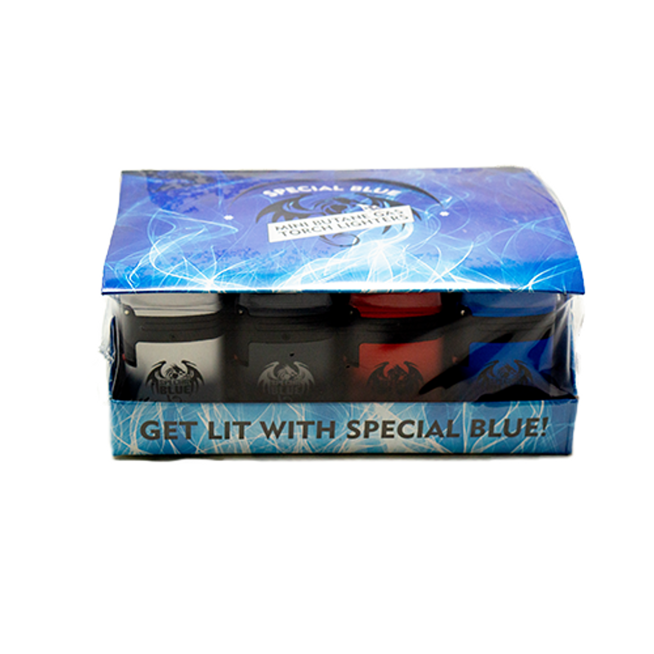 Wholesale Special Blue Classic Double Metal Lighter 20pc Display