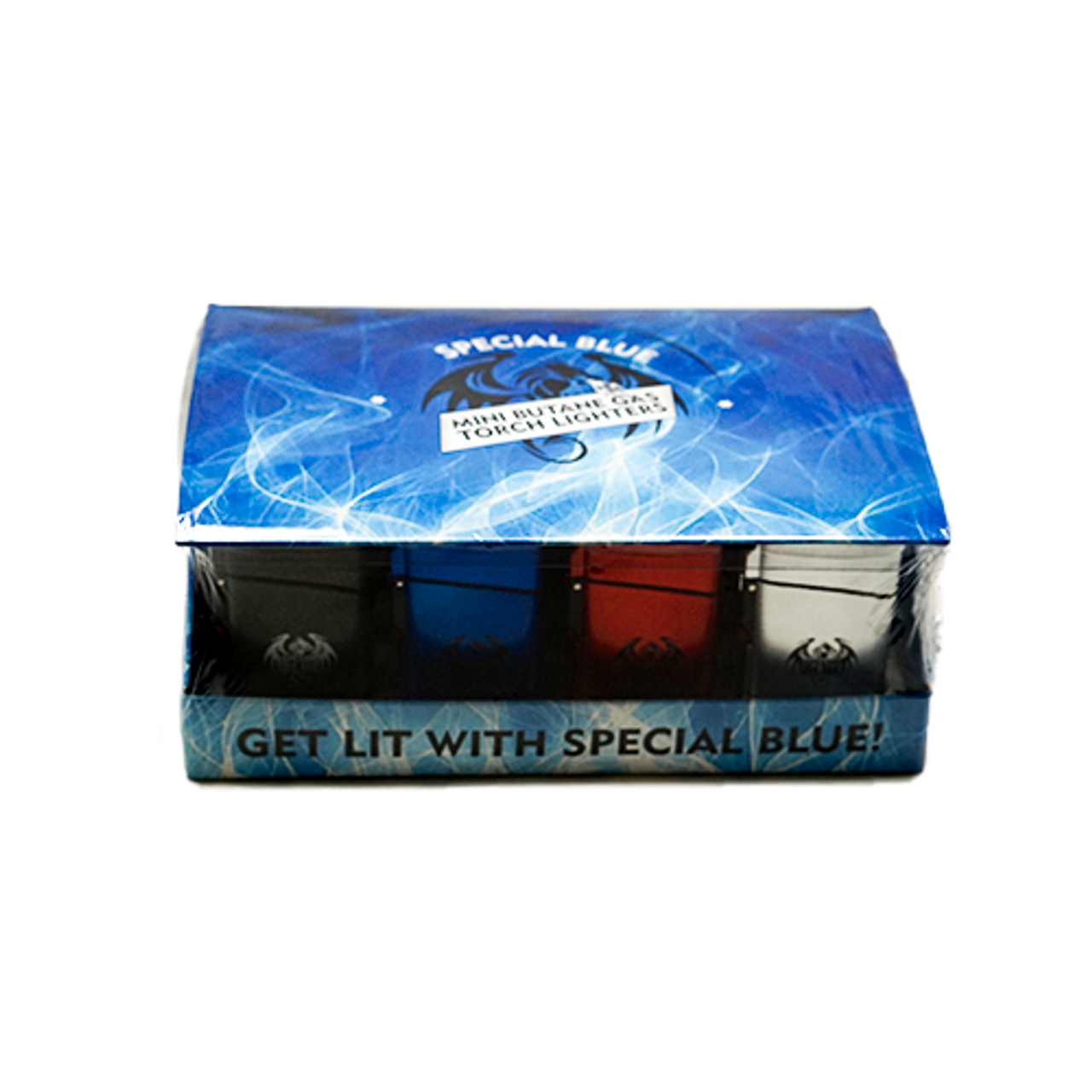 Wholesale Special Blue Classic Metal Lighter 20pc Display - Assorted Colors