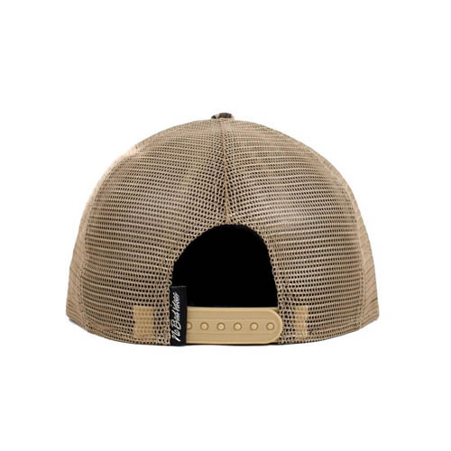 No Bad Ideas - Snapback Trucker Cap - Paradise (Tan/Palm Tree)